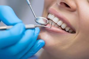 Patient undergoing Dental Implant Procedure Consultation